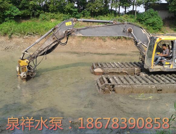 采用液压渣浆泵清淤